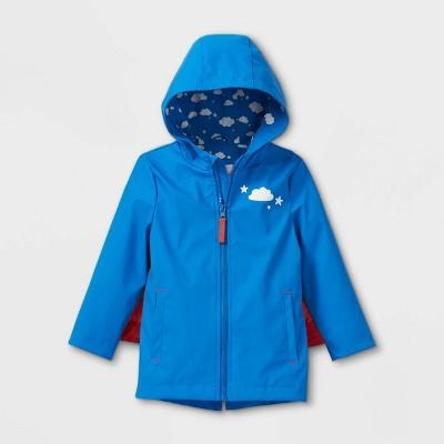 Toddler Girls' Rainbow Wing Rain Coat - Cat & Jack™ Blue