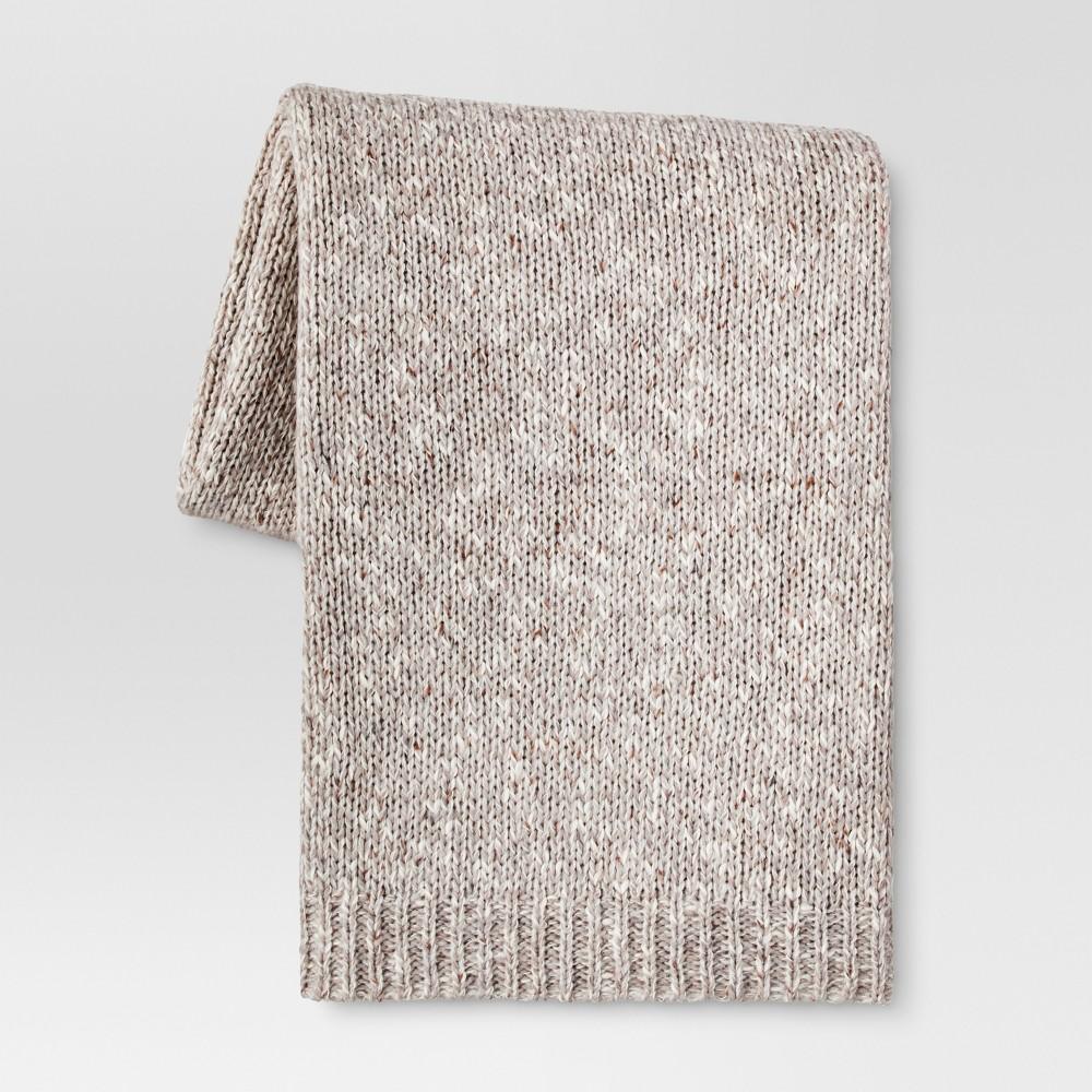 Heathered Knit Throw Blanket (50