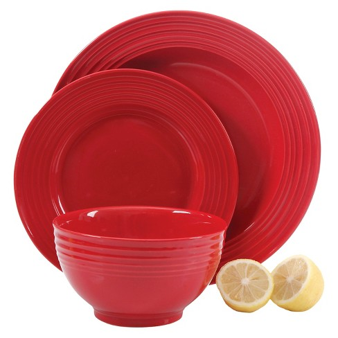 Gibson Select Plaza Café 12pc Dinnerware Set Red - image 1 of 1