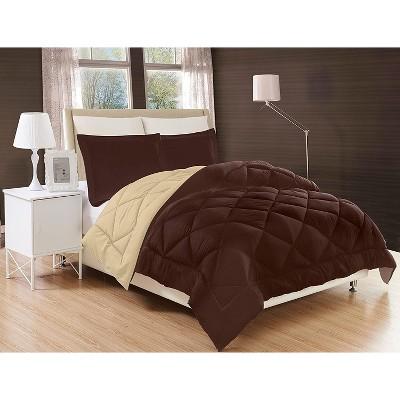 Elegant Comfort Luxury All Season Comforter and All Year Around Medium Weight Super Soft Down Alternative Reversible 3-Piece Comforter Set.