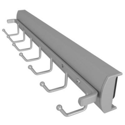 Rev-A-Shelf Sidelines CSWBRSL-14 14 Inch Premiere Swivel Belt and Tie Accessory Organization Rack Holder Hanger with 7 Hooks