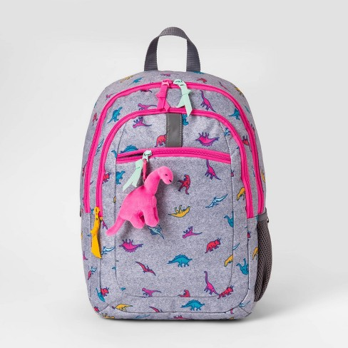 """Dino 17"""" Kids' Youth Backpack Gray - Cat & Jack™ - image 1 of 2"""
