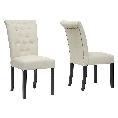Brittany Modern Dining Chair - Beige (Set Of 2) - Baxton Studio - image 1 of 3