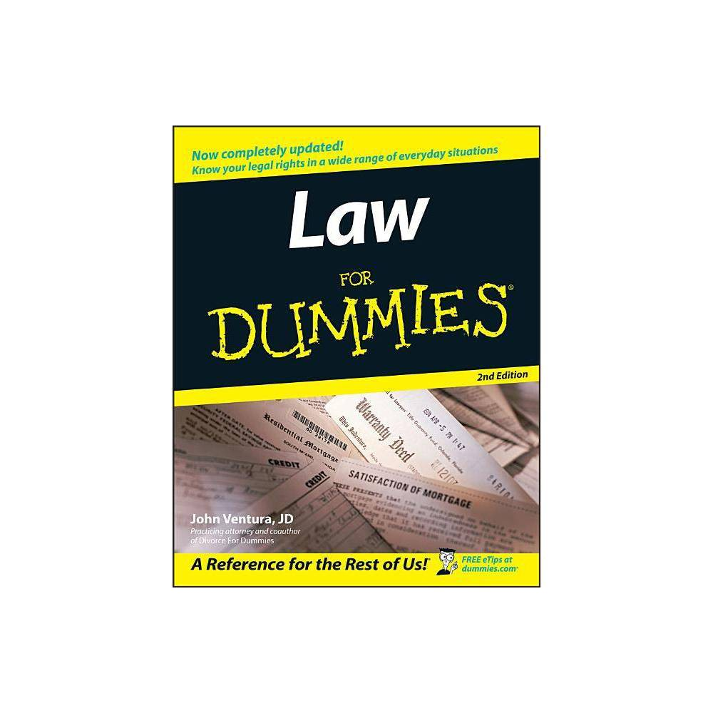 Law For Dummies For Dummies 2nd Edition By John Ventura Paperback