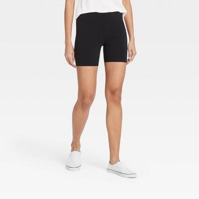 "Women's Cotton 5"" Inseam Bike Shorts - Xhilaration™ Black"