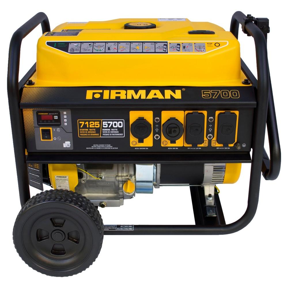 5700/7100 Watt Gas Powered Portable Generator - Firman Power