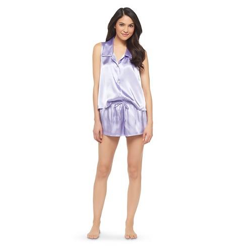 Women s Satin Shorts Pajama Set - Gilligan   O Malley™   Target 01a6f5dd0