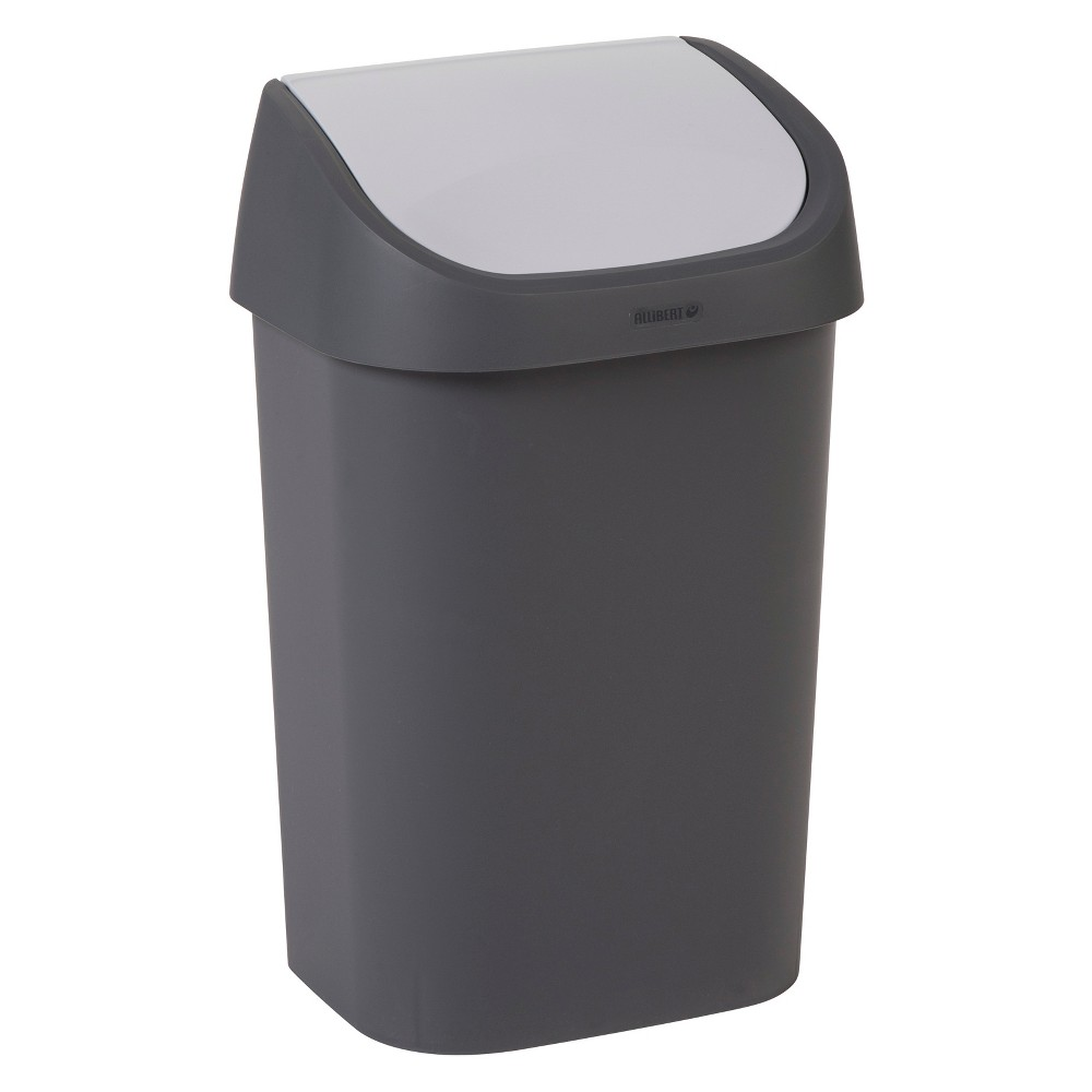 Image of Curver Trash Can With Swing Lid - Gray
