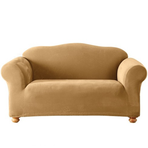 Stretch Pique Loveseat Slipcover - Sure Fit - image 1 of 2