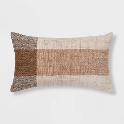 Oversized Textured Woven Lumbar Throw Pillow - Threshold™
