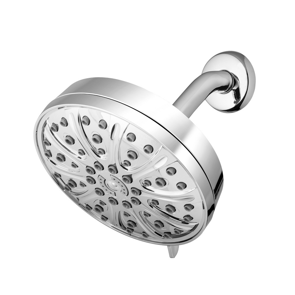 Image of 6 Mode Power Pulse Rain Single Shower Head Chrome - Waterpik, Silver