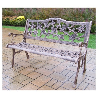 English Rose Cast Aluminum Patio Bench : Target