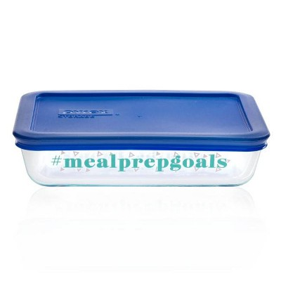 Pyrex 3cup Rectangular Food Storage Container - #mealprepgoals
