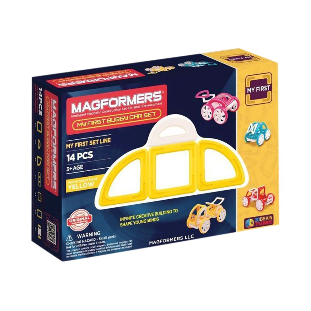 Magformers MY First Buggy 14 PC - Yellow