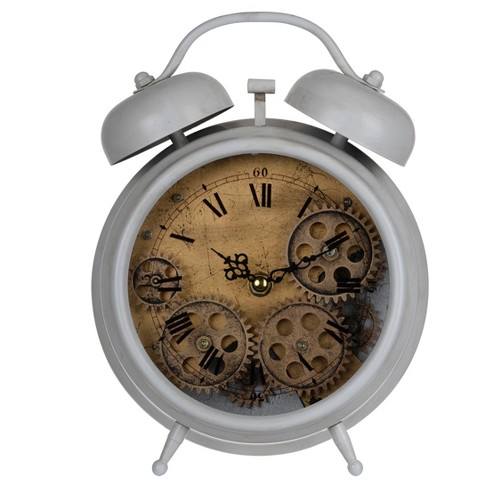 Hereford Table Clock Gray/Bronze - A&B Home® - image 1 of 2