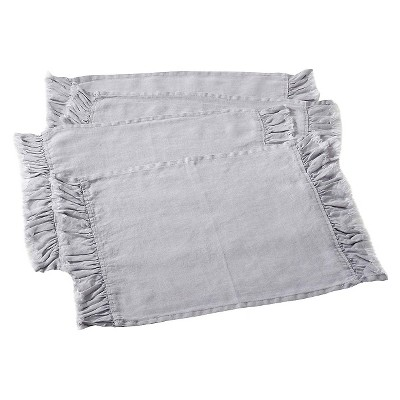 Ruffled Design Placemats Fog (Set of 4)