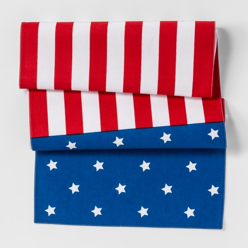 Table Runner Red And Blue American Flag Target