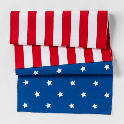 Table Runner Red And Blue American Flag