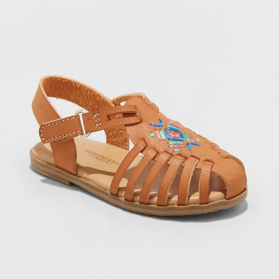 Toddler Girls' Kendrea Hurrache Sandals - Genuine Kids™ from Osh Kosh® Cognac 9