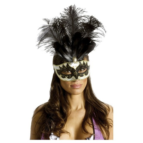 Carnival Mask Big Feather - image 1 of 2