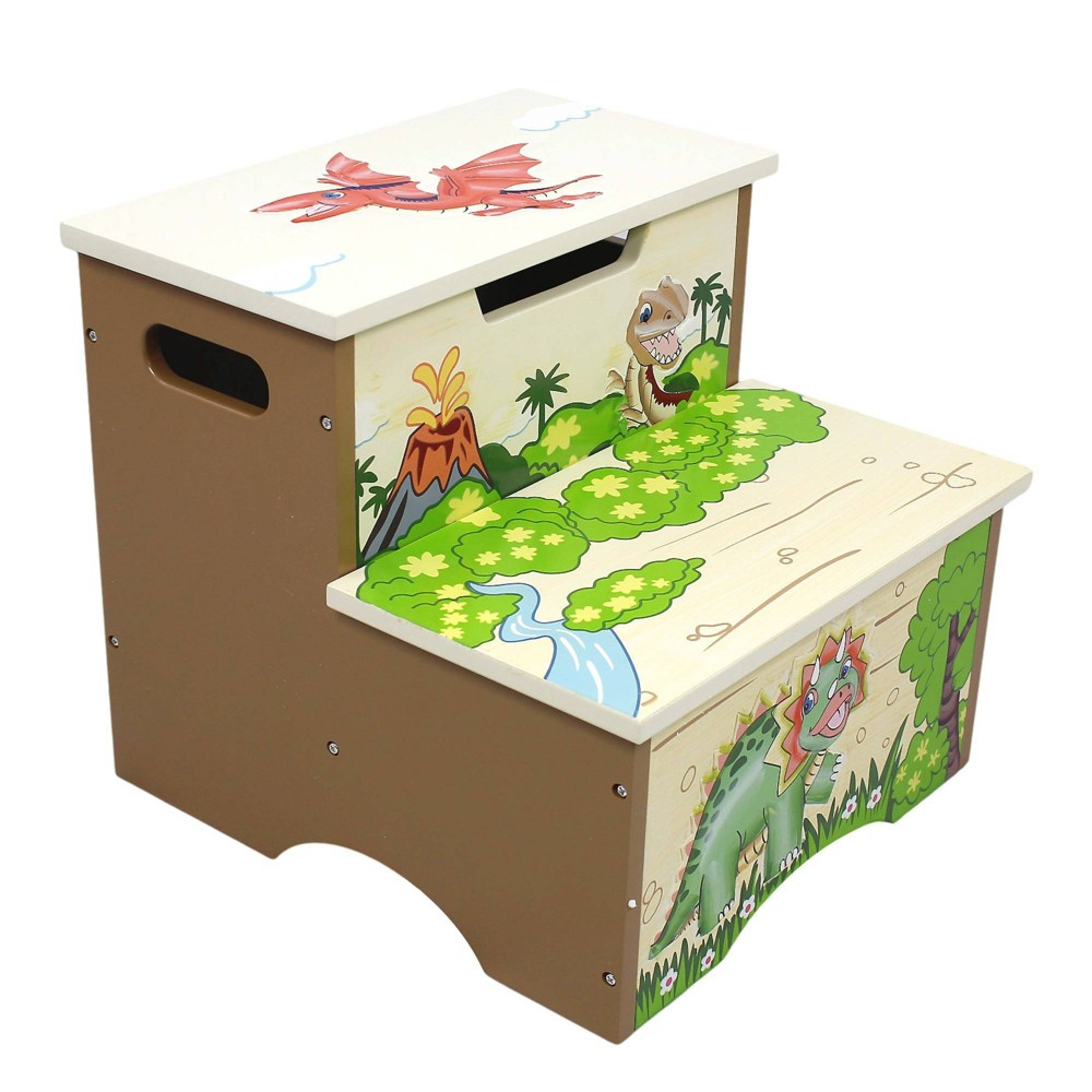 Image of Dinosaur Kingdom Fantasy Fields Step Stool - Teamson Kids