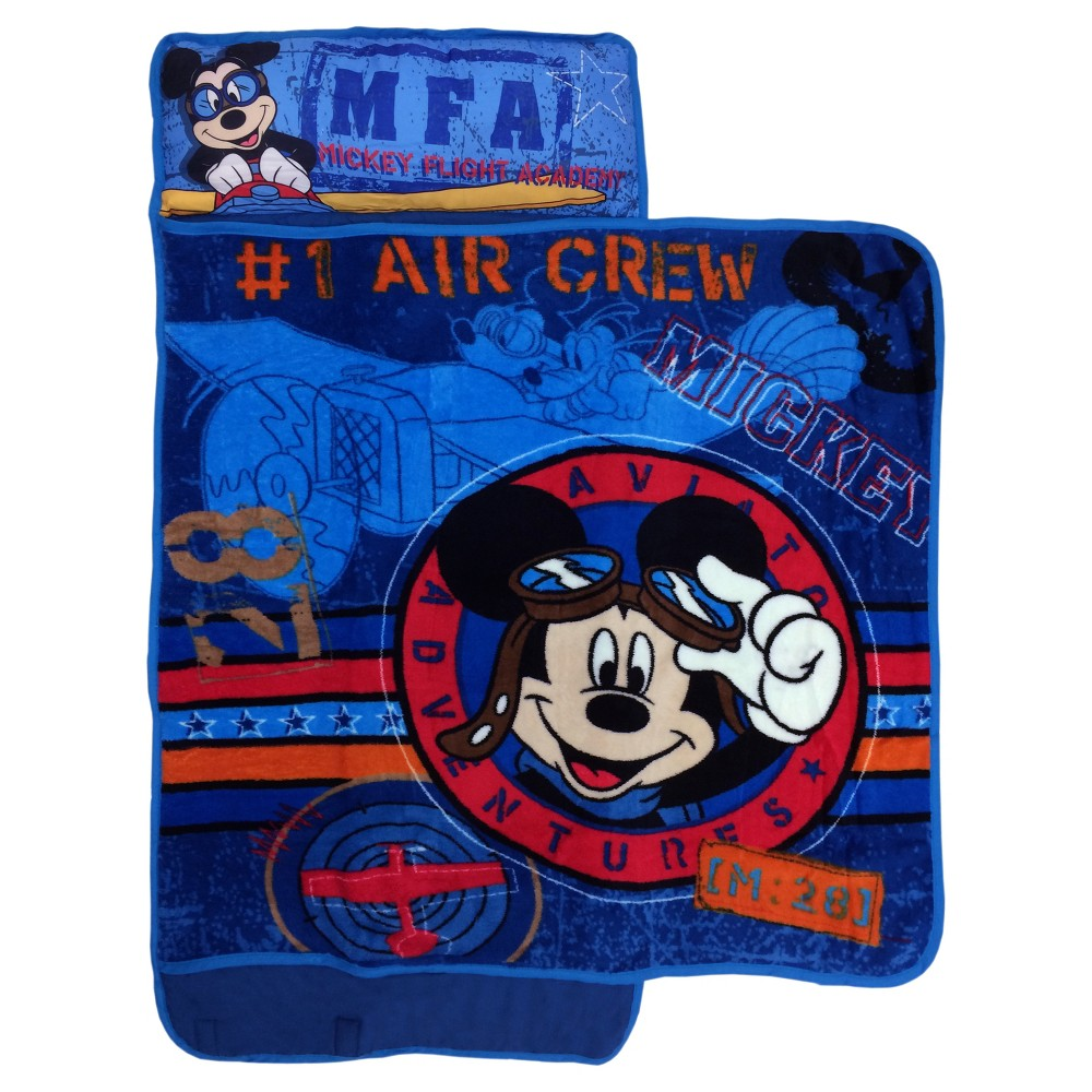 Mickey Mouse Blue Nap Mat (Toddler), Multi-Colored