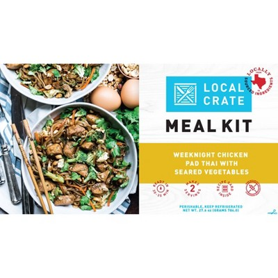 Local Crate Chicken Pad Thai with Seared Vegetables Meal Kit - Serves 2 - 27.6oz
