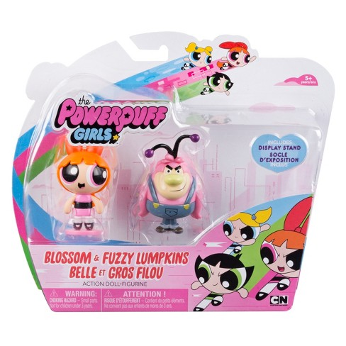 The Powerpuff Girls - 2 inch Action Dolls with Display Stands - 2-Pack - Blossom & Fuzzy Lumpkins - image 1 of 2