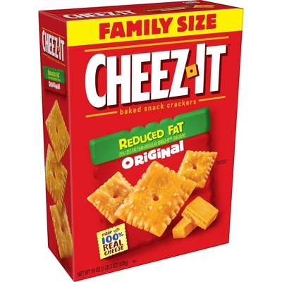 Cheez-It Reduced Fat Original Baked Snack Crackers - 19oz