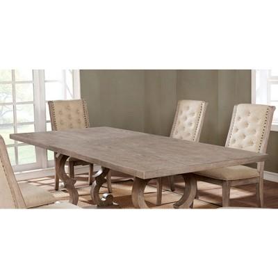 Medina Rectangular Wood Dining Table Natural Tone   Sun U0026 Pine