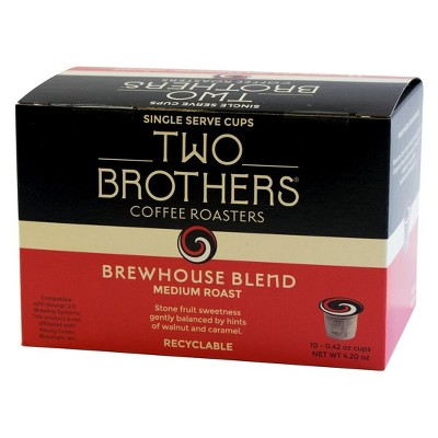 Two Brothers Brewhouse Blend Medium Roast Coffee Pods - 10ct