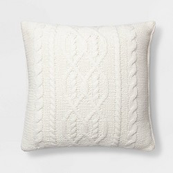 Cable Knit Chenille Throw Pillow - Threshold™