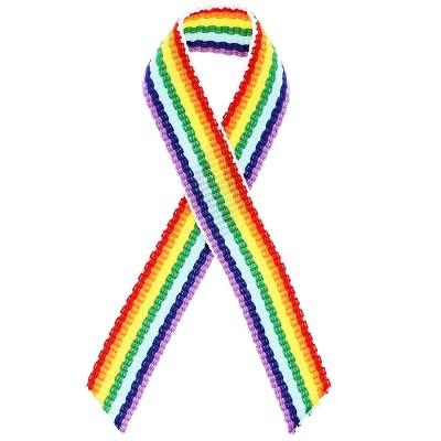 Bright Creations 250-Pack Gay Pride Rainbow Awareness Ribbons Lapel Safety Pins