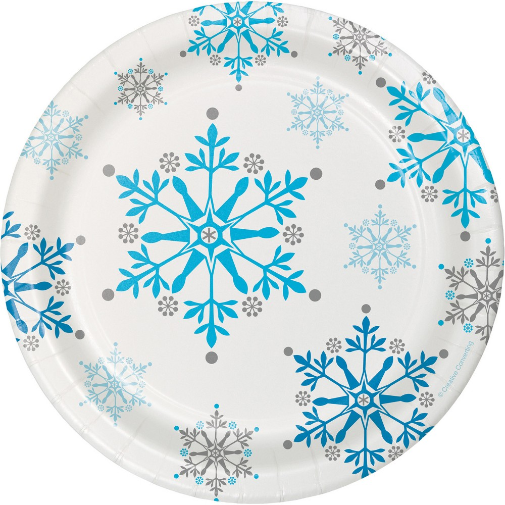 Snowflake Swirls Dessert Plates