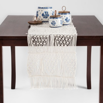 Cream Macramé Table Runner   Opalhouse™ : Target