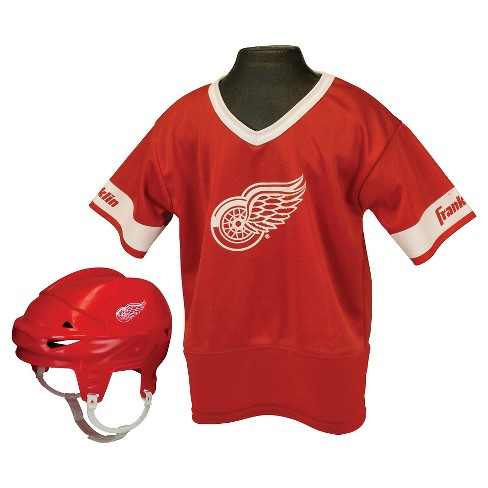 98d1685e4 Detroit Red Wings Franklin Sports® Licensed Hockey Uniform Set For ...