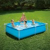 Summer Waves P3060416A 6 x 4.25 Foot 17 Inch Deep Rectangular Small Metal Frame Above Ground Family Backyard Swimming Pool, Blue - image 2 of 2