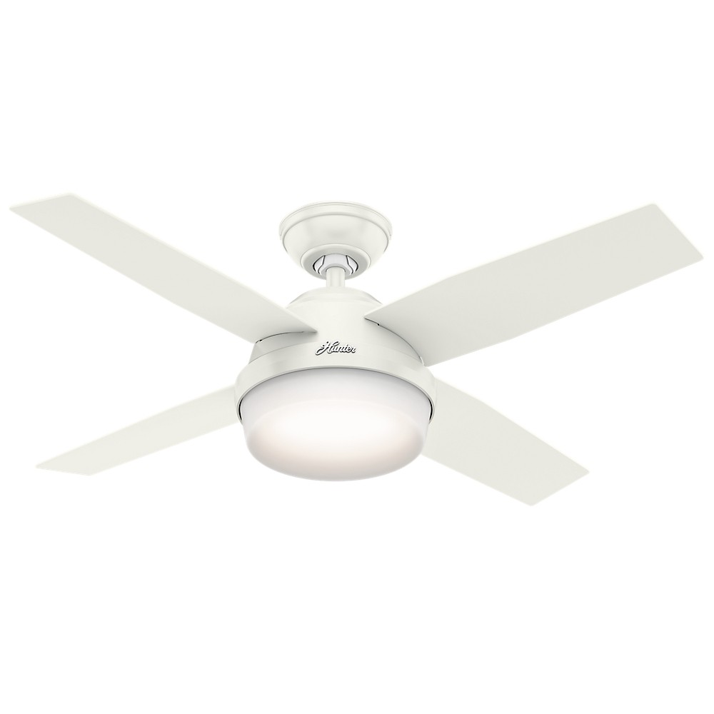 "Image of ""44"""" Dempsey with Light Fresh White Ceiling Fan with Light with Handheld Remote - Hunter Fan"""