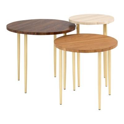 Set of 3 Round Nesting Coffee Tables - Saracina Home