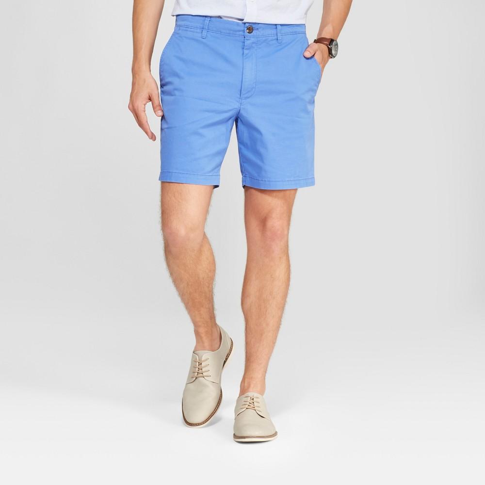 Men's 7 Linden Flat Front Chino Shorts - Goodfellow & Co Amparo Blue 31