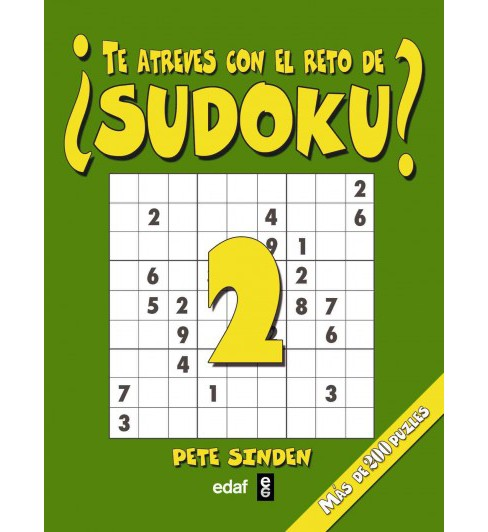 Te atreves con el reto de sudoku?/ Do you Dare with the Sudoku Challenge? (Vol 2) (Paperback) - image 1 of 1
