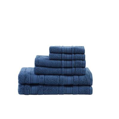 Roman Super Soft 6pc Cotton Bath Towel Set Blue (27x52 )
