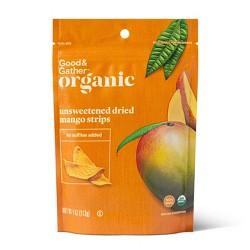 Organic Dried Unsweetened Mango Strips - 4oz - Good & Gather™