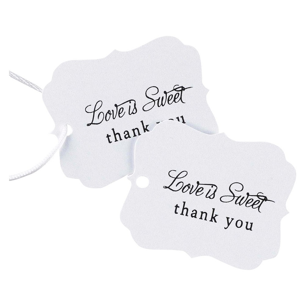 Image of 25ct Love is Sweet Wedding Thank You Favor Cards