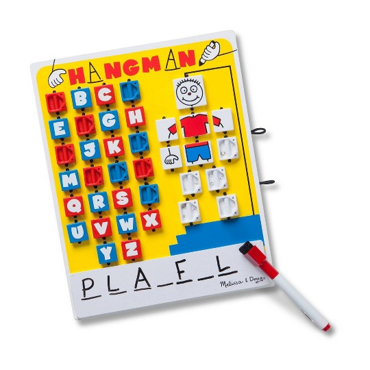 Melissa & Doug Flip to Win Travel Hangman Game - White Board, Dry-Erase Marker image number null