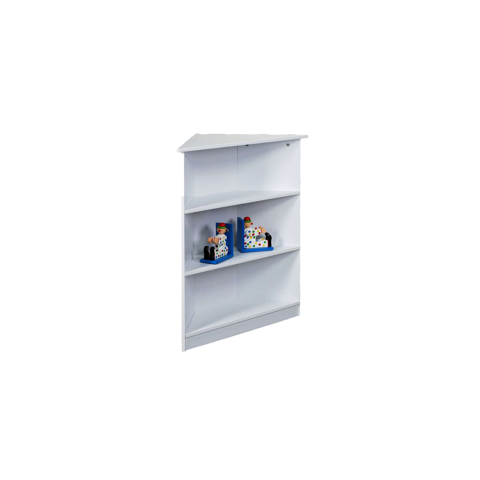Gift Mark 3-Tier Corner Bookcase - White