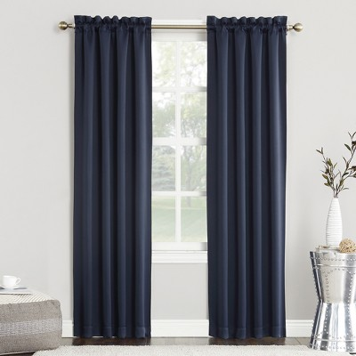 Kenneth Blackout Rod Pocket Curtain Panel Navy 40 x63  - Sun Zero
