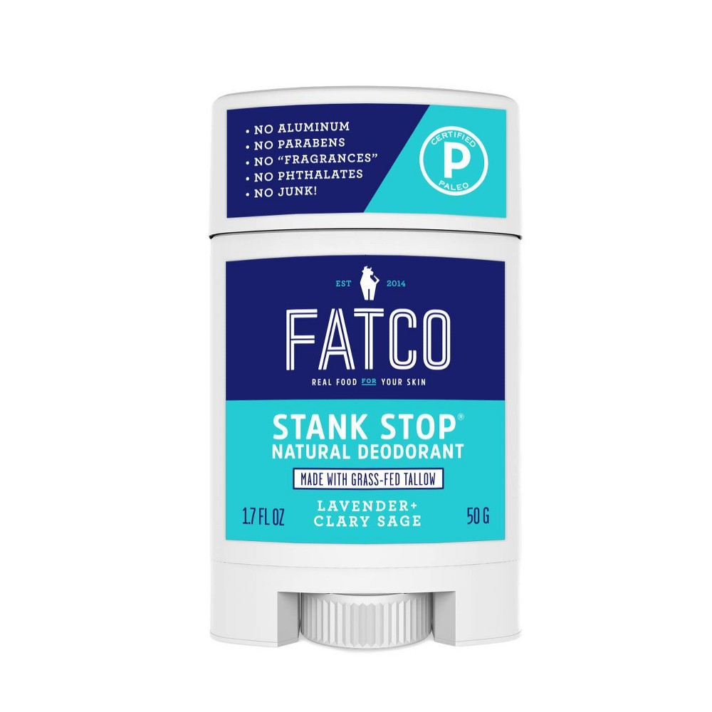 Image of FATCO Lavender + Clary Sage Stank Stop Natural Deodorant Stick - 1.7 fl oz