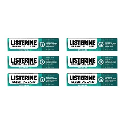 Listerine Essential Care Gel - 4.2oz/6pk