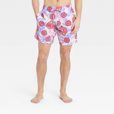 Men's The Simpsons Pajama Shorts - Purple/Pink